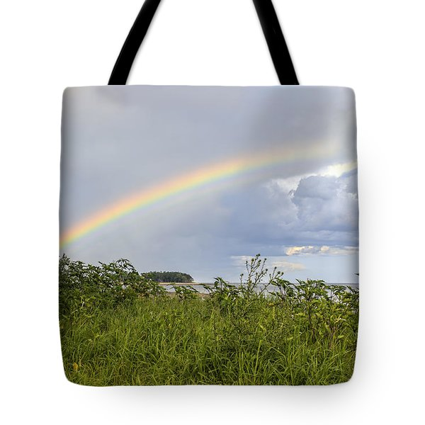 Double Rainbow Sheffield Island Tote Bag