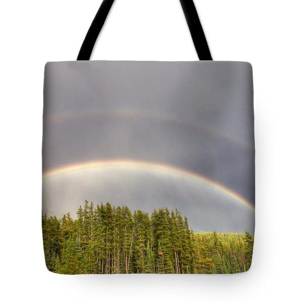 Double Rainbow Tote Bag by Wanda Krack