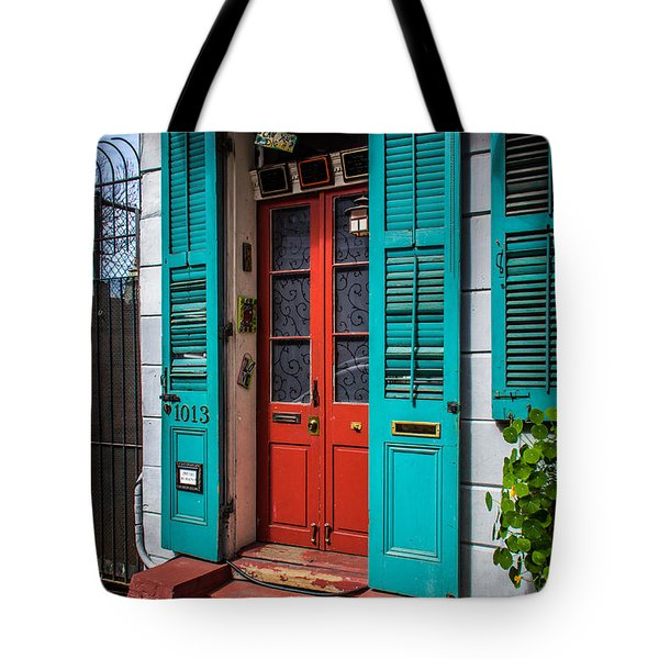 Double Red Door Tote Bag by Perry Webster