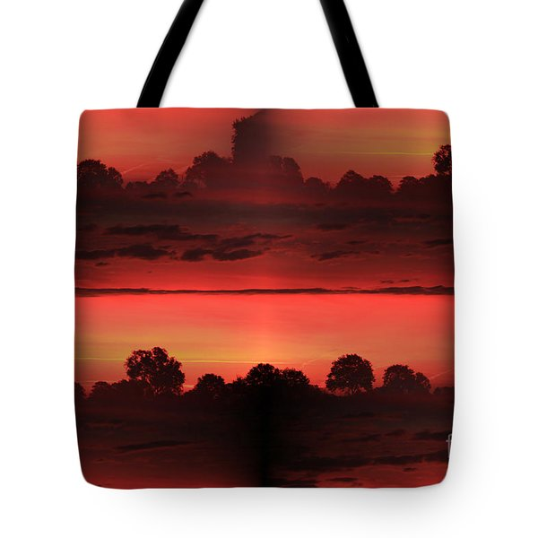 Double Red Sunrise Tote Bag