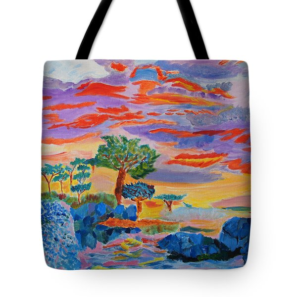 Candy Coated Monterey Sunset Tote Bag by Meryl Goudey