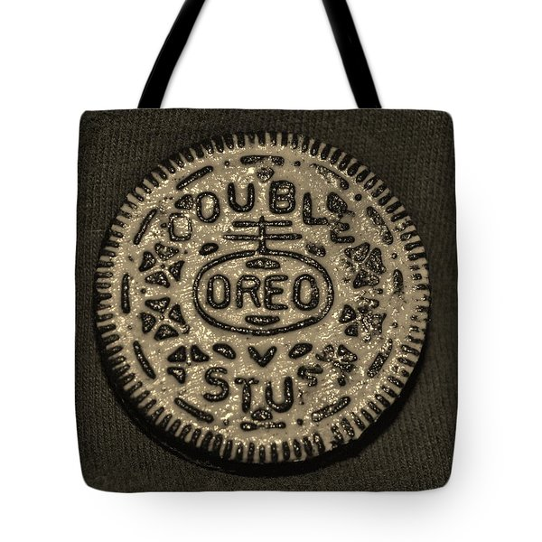 Double Stuff Oreo In Sepia Negitive Tote Bag