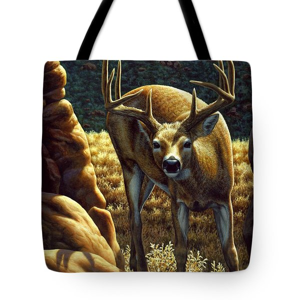 Whitetail Buck - Double Take Tote Bag