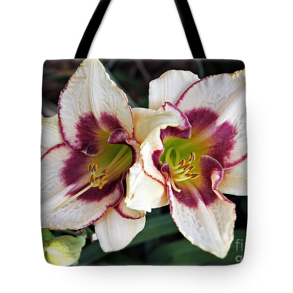 Double The Bloom Tote Bag by Elizabeth Winter