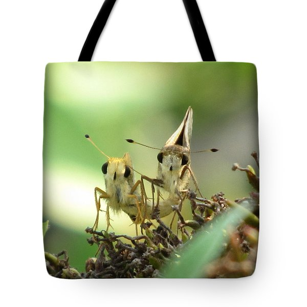 Tote Bag featuring the photograph Double Trouble by Jennifer Wheatley Wolf
