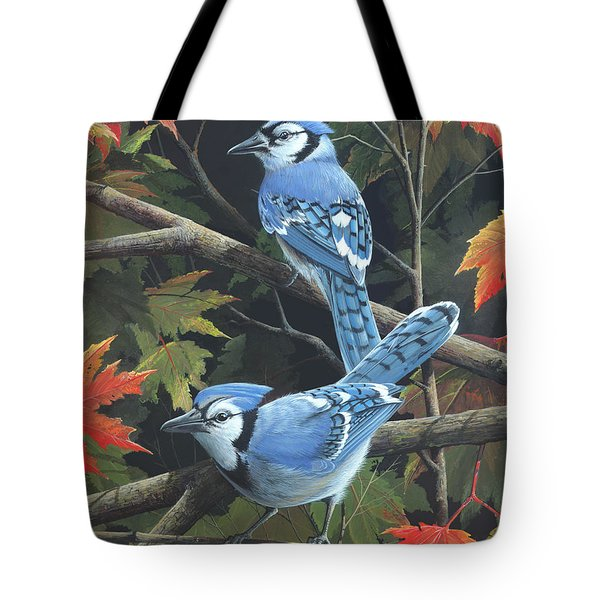 Tote Bag featuring the painting Double Trouble by Mike Brown