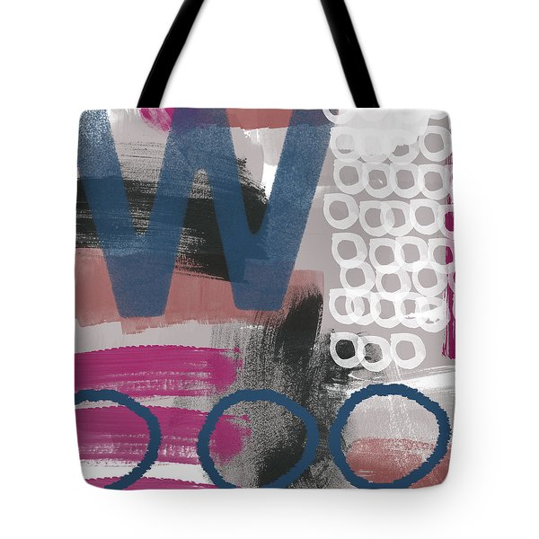 Double Ve- Abstract Painting Tote Bag