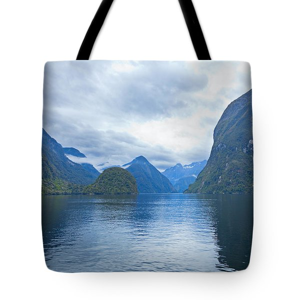 Doubtful Sound Reflections Tote Bag by Alexey Stiop