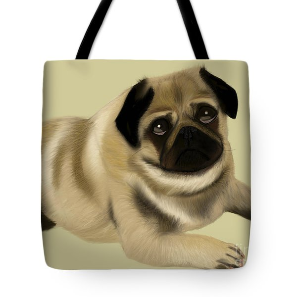 Doug The Pug Tote Bag