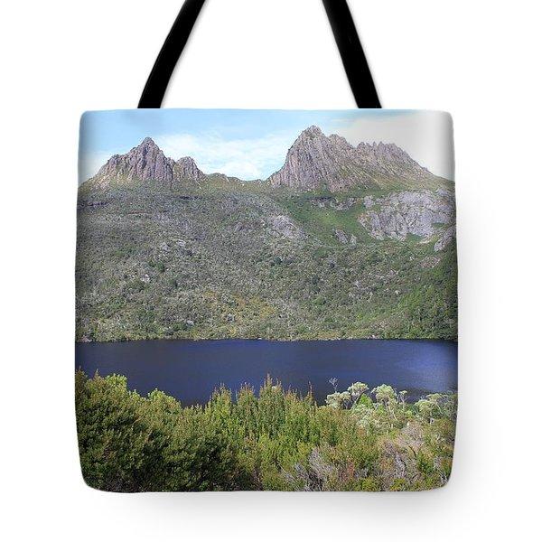 Dove Lake Tasmania All Profits Go To Hospice Of The Calumet Area Tote Bag