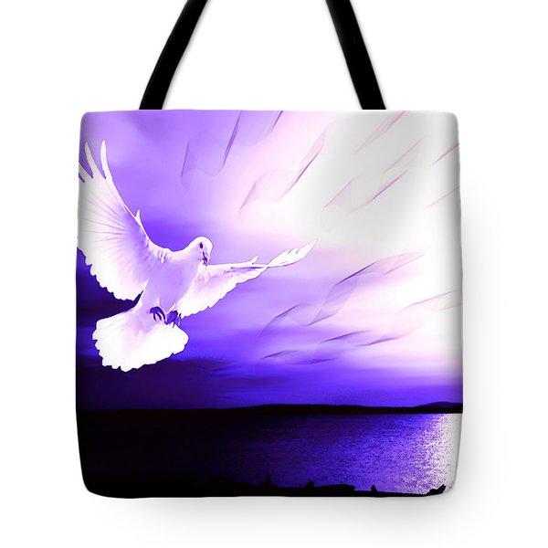 Dove Of My Dreams Tote Bag by Eddie Eastwood