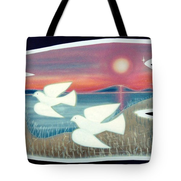 Tote Bag featuring the painting Doves by Jason Girard