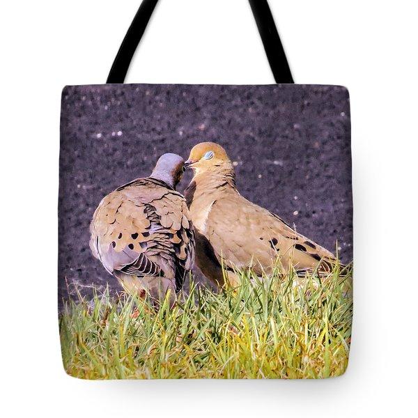 Doves Kisses Tote Bag by Zina Stromberg