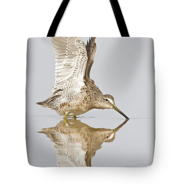 Dowitcher Wing Stretch Tote Bag by Bryan Keil