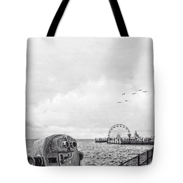 Down At The Pier Tote Bag by Edward Fielding