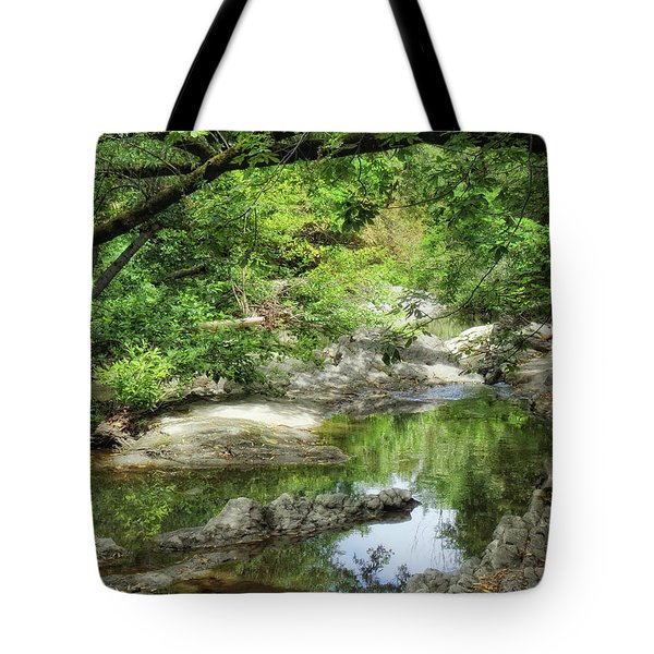 Down By The Creek Tote Bag by Donna Blackhall