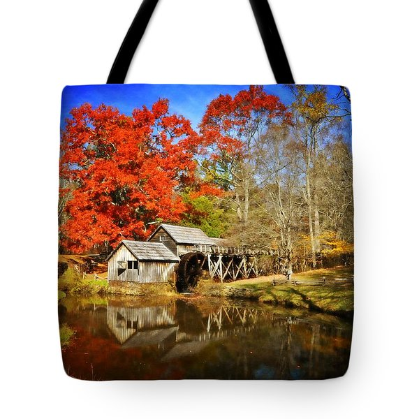 Down By The Old Mill Stream  Tote Bag by Lynn Bauer