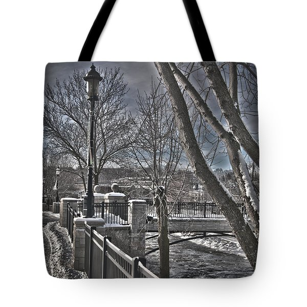 Tote Bag featuring the photograph Down By The River by Deborah Klubertanz