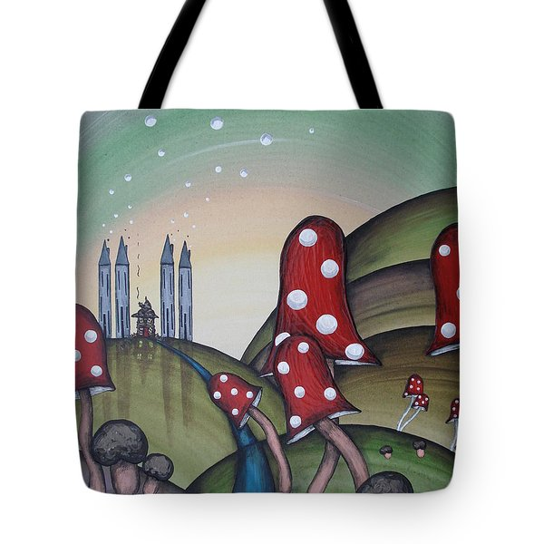 Down The Blue Path Tote Bag