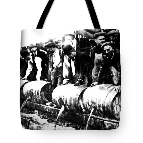 Down The Drain Tote Bag by Bill Cannon