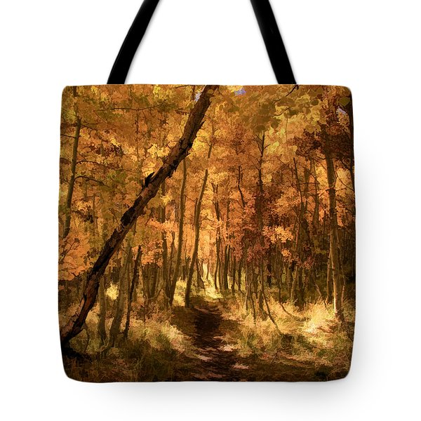 Down The Golden Path Tote Bag