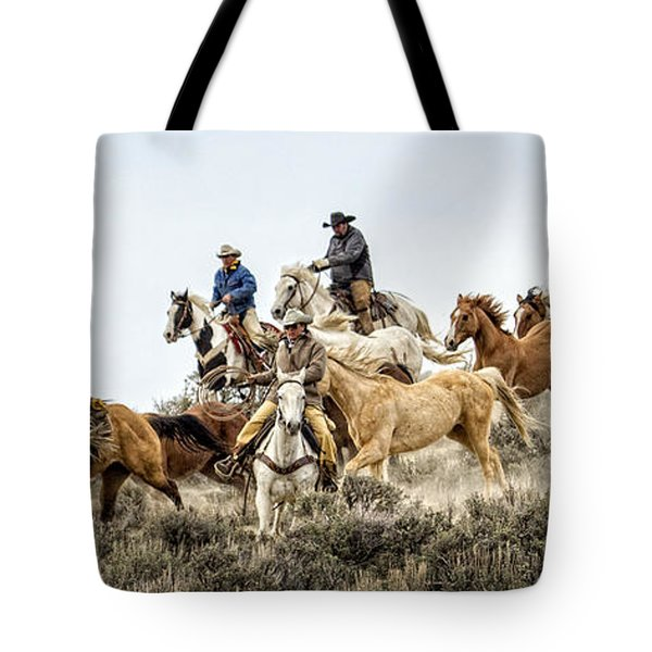 Down The Hill Tote Bag by Joan Davis