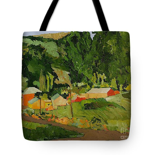 Down The Road Tote Bag by Allan P Friedlander