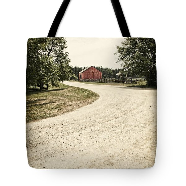 Down The Road Tote Bag by Margie Hurwich