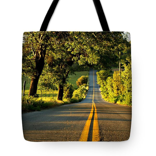 Down The Road Tote Bag by Sharon Soberon