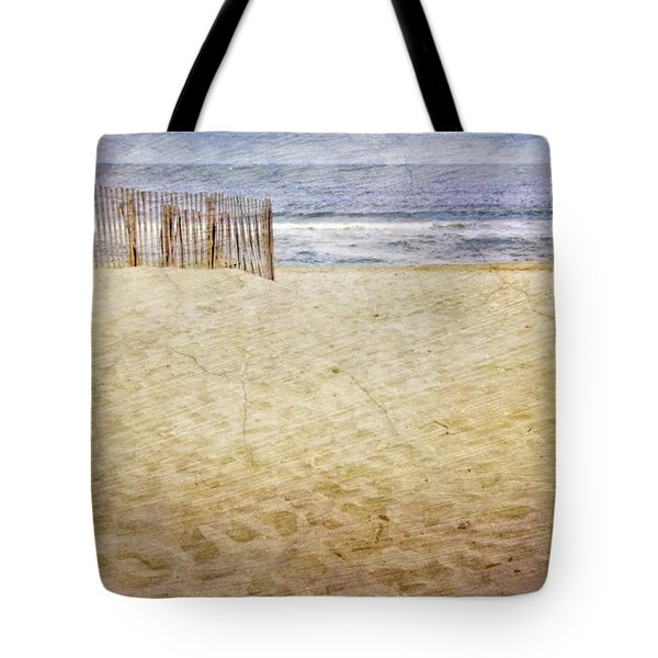 Tote Bag featuring the photograph Down The Shore by Debra Fedchin
