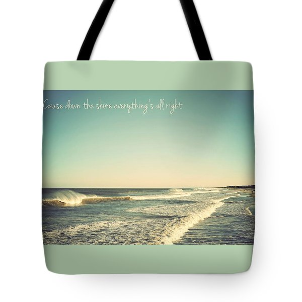 Down The Shore Seaside Heights Vintage Quote Tote Bag