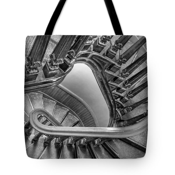 Down The Side - Bw Tote Bag