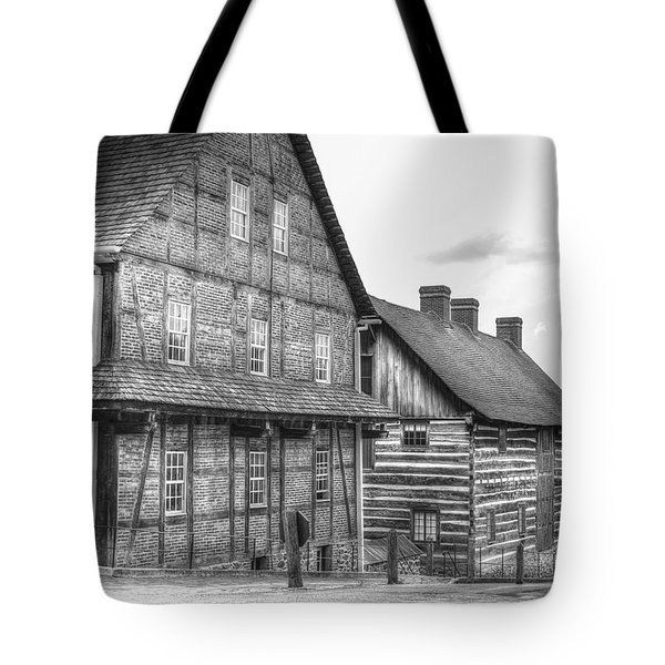 Down The Street In Old Salem Tote Bag by Diego Re