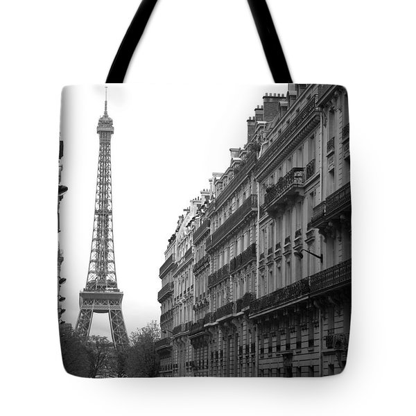Tote Bag featuring the photograph Down The Street by Lisa Parrish