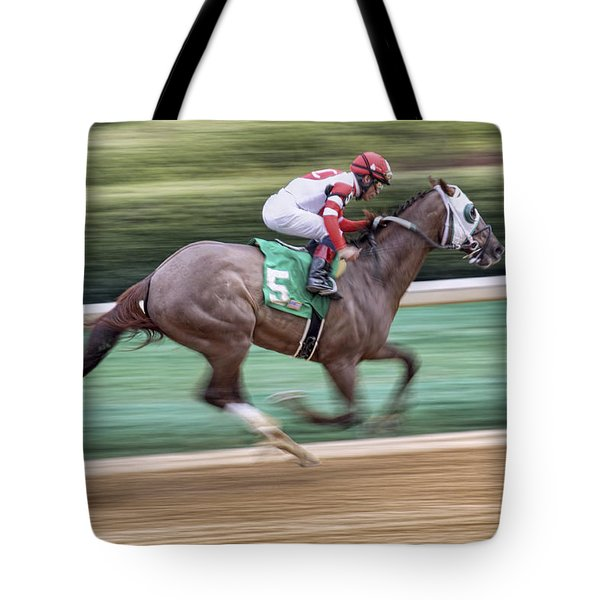 Down The Stretch - Horse Racing - Jockey Tote Bag