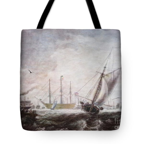 Down To The Sea In Ships Tote Bag by Lianne Schneider