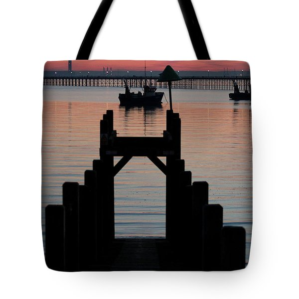 Down To The Sunset Sea Tote Bag