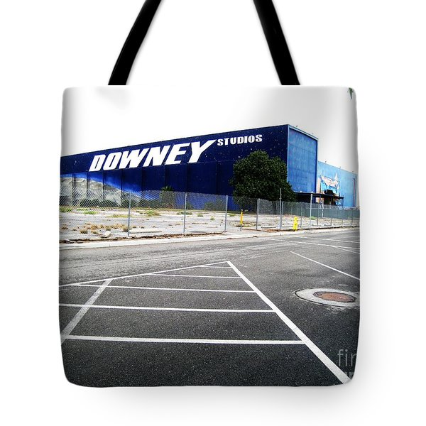 Tote Bag featuring the photograph Downey Studios Last Photo by John King