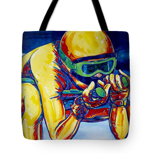 Downhill Racer Tote Bag