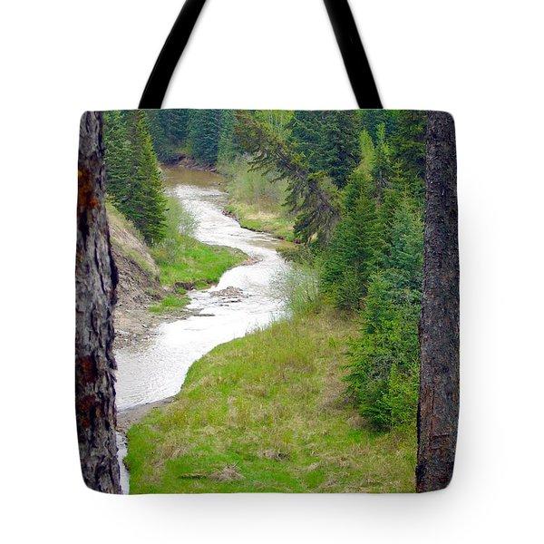 Downriver Tote Bag by Jim Sauchyn