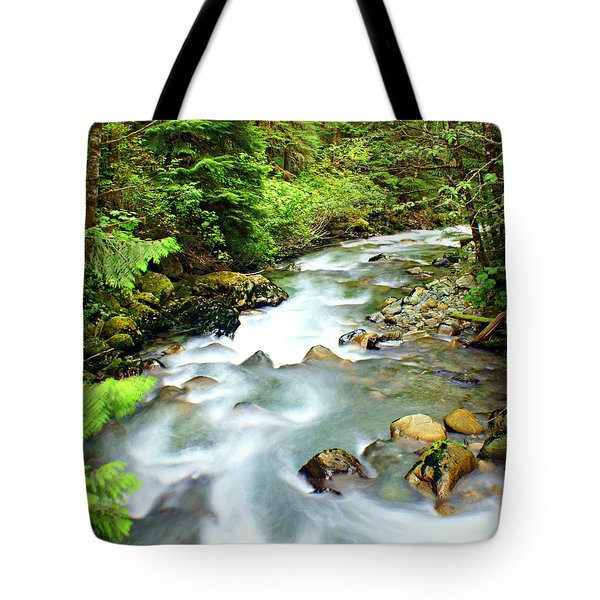 Downstram In The Olympics Tote Bag by Marty Koch