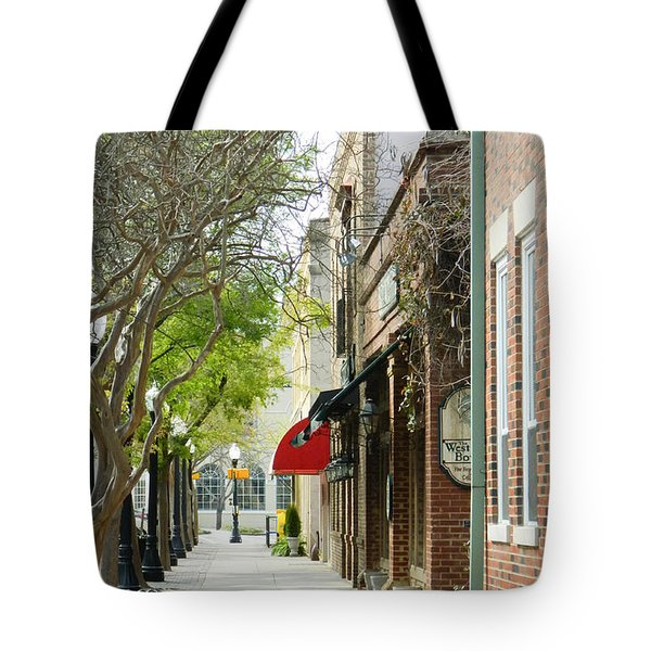 Downtown Aiken South Carolina Tote Bag by Andrea Anderegg