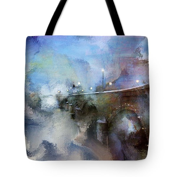 Downtown Bridge Over The Grand Grand Rapids Michigan Tote Bag