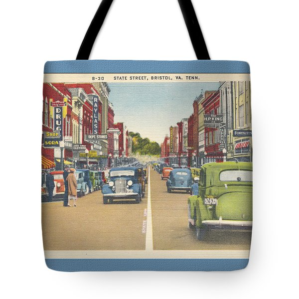 Downtown Bristol Va Tn 1930 - 40 Tote Bag