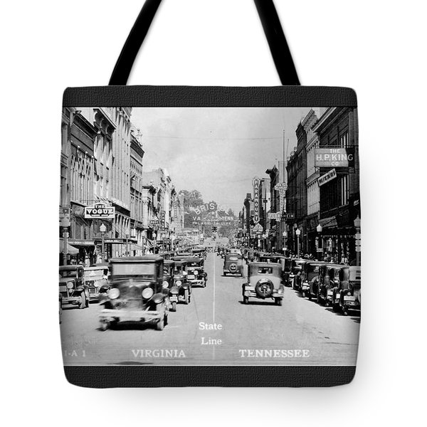 Downtown Bristol Va Tn 1931 Tote Bag
