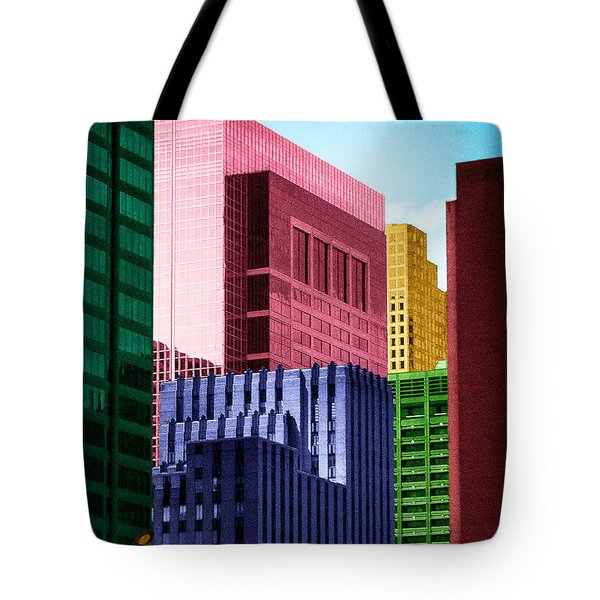 Downtown Building Blocks Tote Bag