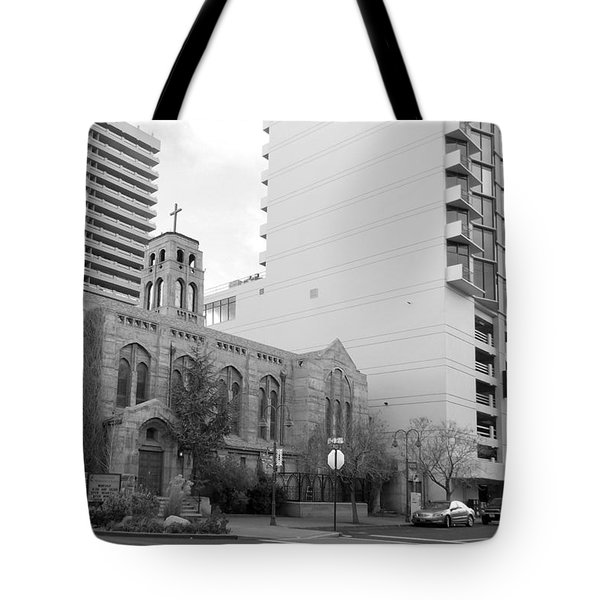 Downtown Church  Tote Bag