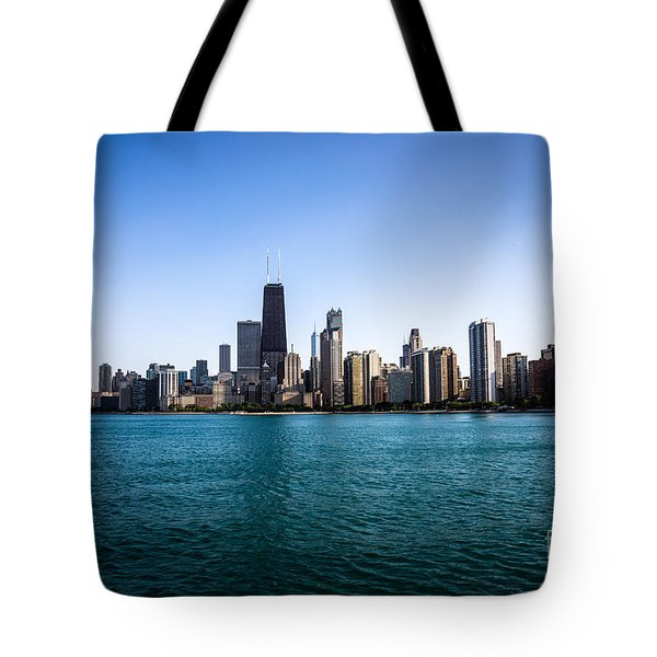 Downtown City Buildings In The Chicago Skyline Tote Bag by Paul Velgos