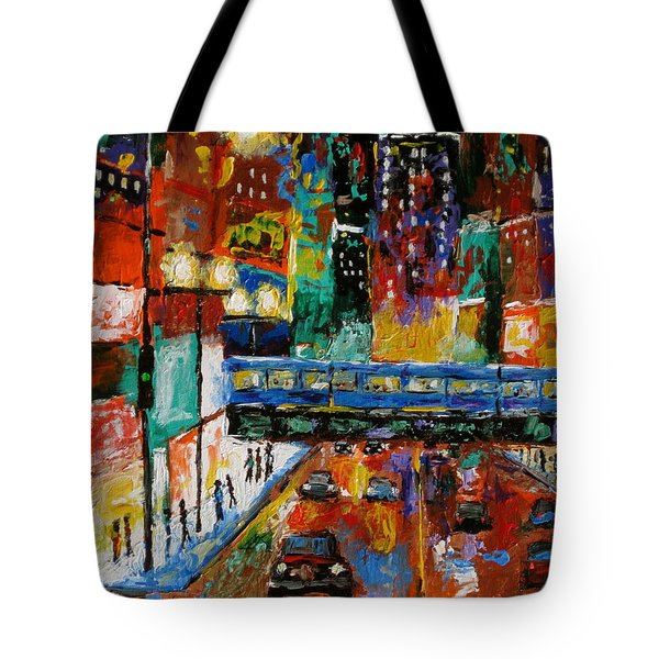 Downtown Friday Night Tote Bag