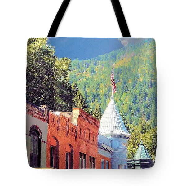 Tote Bag featuring the photograph Downtown Historic Wallace Idaho by Janette Boyd
